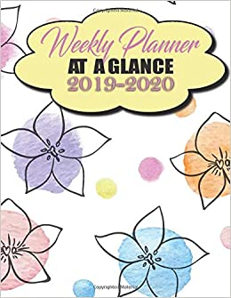 New School Academic Calendar >> Weekly Planner At A Glance 2019 2020 2019 2020 Academic