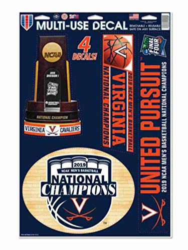 WinCraft Virginia Cavaliers 2019 NCAA Basketball National Champions Multi-Use Decal Sheet