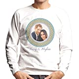 Coto7 Green Harry and Meghan Royal Wedding Decorative Plate Men's Sweatshirt