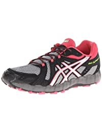 ASICS Womens Gel-Fuji Trainer 3 Trail Running Shoe,Aluminium/Lightning/Rouge,8 M US