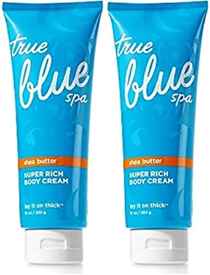 Set Of 2 Bath And Body Works True Blue Spa Lay It On Thick Super Rich Body Creams 10 Ounce Each Amazon Sg Beauty