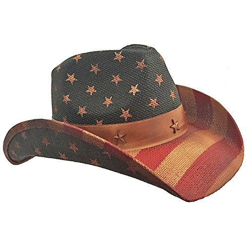 American Flag Distressed Cowboy Hat -