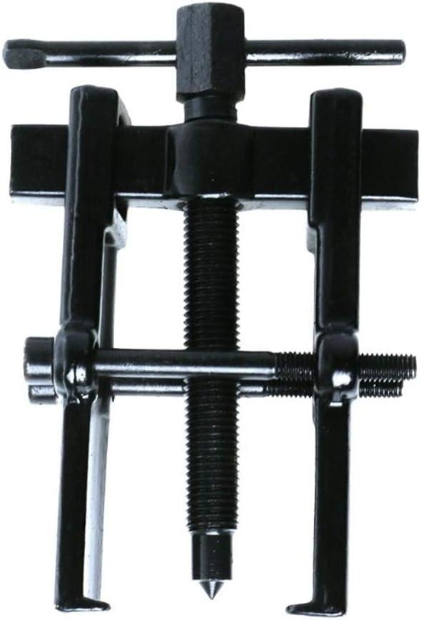 NO LOGO 1pc Negro Plateado Dos mandíbulas Gear Puller Armadura Extractor de rodamientos de forja (tamaño : 70x120mm)