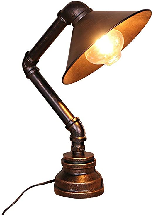 Frideko Vintage Table Lamp, Retro Industrial Iron Water