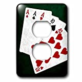 3dRose (6) 2 Plug Outlet Cover (lsp_270310_6) 2 Poker Hands Full House Ace Ten