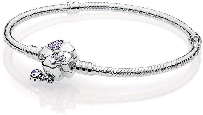 Pandora Women S Pandora Moments Pave Flower Clasp Snake Chain Bracelet 597124nlc 19 Price In Uae Amazon Uae Kanbkam