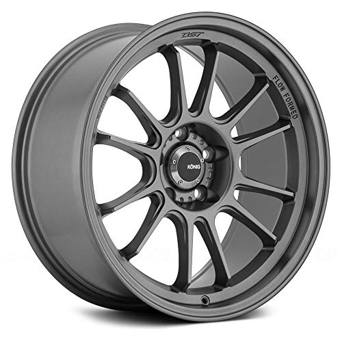 Konig Hypergram 15x7.5 Gray Wheel / Rim 4x100 with a 35mm Of