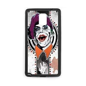 Joker Card Funda Samsung Galaxy Note 4 Funda caja del teléfono celular Negro N1E7TQ Cell Phone Back Covers
