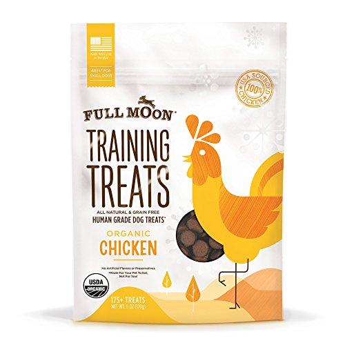 Full Moon Organic Human Grade Chicken Training Treats for Dogs, 6 Ounce
