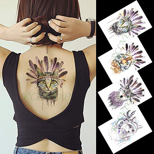 Etiqueta engomada del Tatuaje Temporal Impermeable Estilo ...