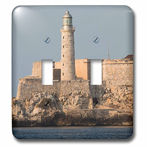 Danita Delimont - Cuba - Havana Street and Malecon promenade. El Morro fortress and harbor - Light Switch Covers - double toggle switch - Promenade Street