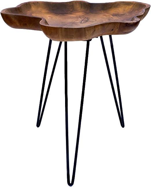 magnífico librum Diseño Salón Mesa Teca Madera con Estructura de ...