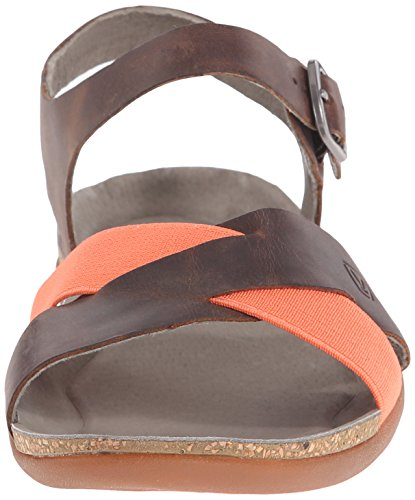 Keen - Sandalias de vestir de Piel para mujer Gris Burnt Olive Marrón - Cascade Brown