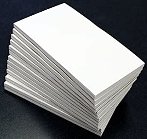 Debra Dale Designs - Blank Unruled Memo Pad - 3 x 5 Inches - White - 13 Pads of 50 Sheets - 20# White Bond - Chipboard Backed