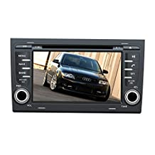 XTTEK 7 inch Touch Screen in dash Car GPS Navigation System for Audi A4 2002-2008 DVD Player+Bluetooth SWC+Backup Camera+North America Map