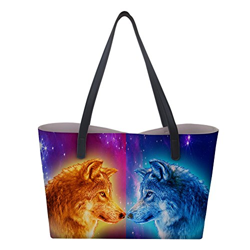 Galaxy donna Wolf Borsa a Large mano Showudesigns wZqSXxYx