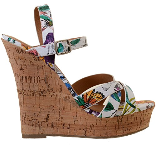 Ankle Cork Open Funky Wedge Buckle Strap Fourever Sandals Toe High Peep Platform Heel IOpxTwZR