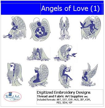 Angel Embroidery Designs - Machine Embroidery Designs - Angels of Love(1)