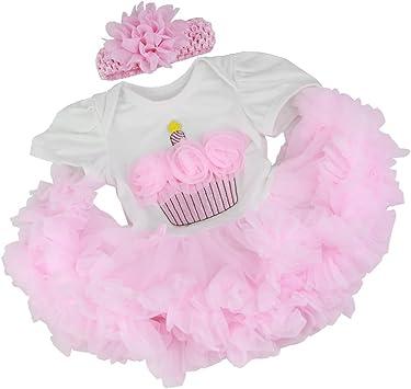 Pink Romper Dress Headband for 22/'/'-23/'/' Reborn Baby Girl Dolls Clothes