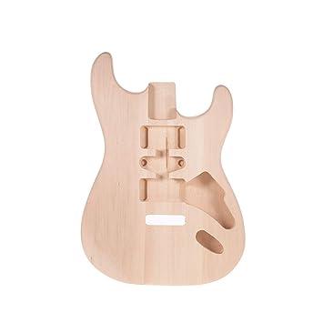 Festnight Cuerpo de Guitarra Sin Terminar, Cuerpo de Guitarra Eléctrica de Madera Parte de Repuesto Barril: Amazon.es: Instrumentos musicales