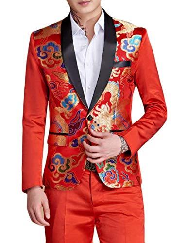 Libero Lunga Elegante Fashion Giovane Slim Da Vintage Manica Uomo Saoye Giacche Giacca Il Fit Tuxedos Per Tempo Rot N0wP8nOkX