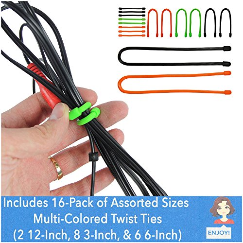 EliteTechGear Twist Ties For Organizing Your Gear Assorted S