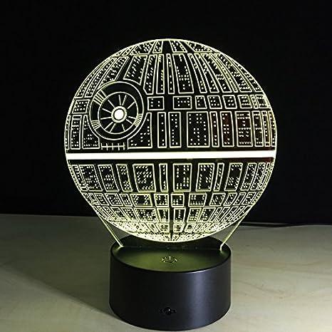 Lampada 3D a LED da tavolo Star Wars - modello Morte Nera: Amazon.it:  Illuminazione