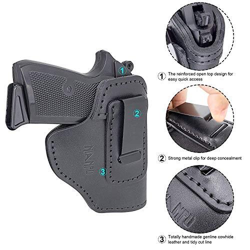 NIANPU 2 Pack Pistol Gun Holster,Handgun,Pistol Holster, Concealed Carry IWB Holster for Glock 17 19 22 23 32 33/ S&W M&P 9, 40, 45/ S&W M&P