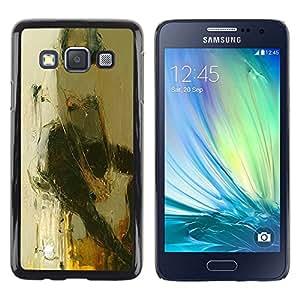 LECELL--Funda protectora / Cubierta / Piel For Samsung Galaxy A3 SM-A300 -- Art Woman Stool Sitting Body --