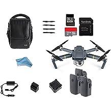 DJI Mavic Pro Starters Bundle con bolsa de hombro, accesorios, cargador de coche y 2baterías extra, 16GB y 32GB MicroSD Tarjeta De Memoria, & Digital y Más lente paño de limpieza
