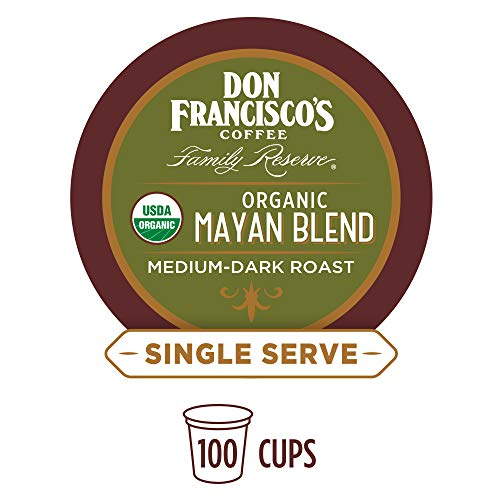 (Don Francisco's Organic Mayan (100 Pods) Medium-Dark Roast, Single Cup Coffee Pods, Compatible with Keurig K-Cup Machines)