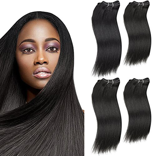 SLEEK 4 Bundles of Natural Yaky Weave Hair (NATURAL BLACK, 14