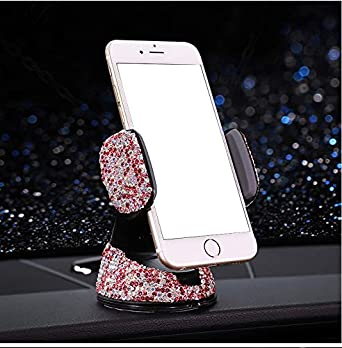 Pink Bestbling Luxury Rhinestone Universal Car Stand Phone Holder Air Vent Car Mount Stand Holder Compatible with iPhone X 8 Plus 7 Plus SE 6s 6 Plus 6 5s 5 4s 4