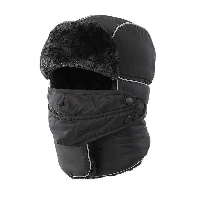 Home Prefer Men s Trapper Hat with Faux Fur Waterproof Snow Hats for Men  Winter Ear Flap 0a30fe251c6