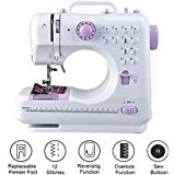 Isabella Mini Desktop Multi functional Electric Sewing Machine Household Double Stitches Sewing Tools…