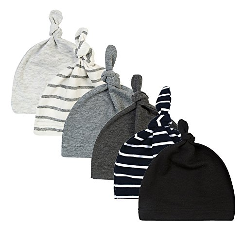 BBPIG Unisex Baby Adjustable Knot Hat Cotton Soft Cute Knit Hat Cap (6 color3)