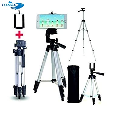 Ionix Mobile Stand for TIK tok Video, Strong Built tiktok Mobile Stand,  Portable and Foldable Tripod with Mobile Clip Holder Bracket, Flexible  Mount,3