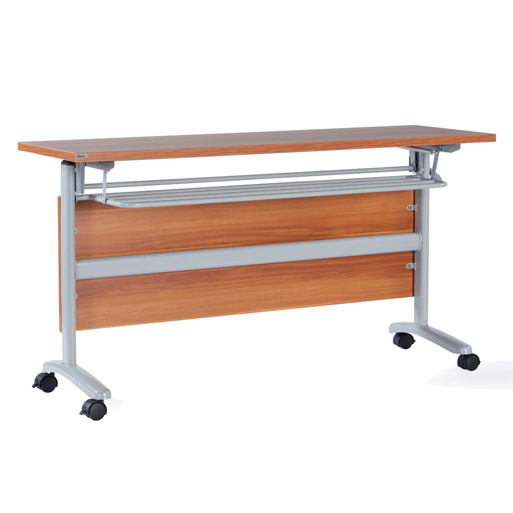 Sunon Trans Meeting Table with Book Shelf and Movable casters