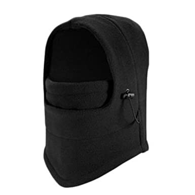 7f978e1c588 Opromo Kids   Adult Winter Fleece Balaclava Hood Snood Ski Face Mask  Cycling Hat-Black