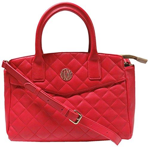 DKNY Women's Handbag Gansevoort Bag Quilted Satchel Tote Purse Red