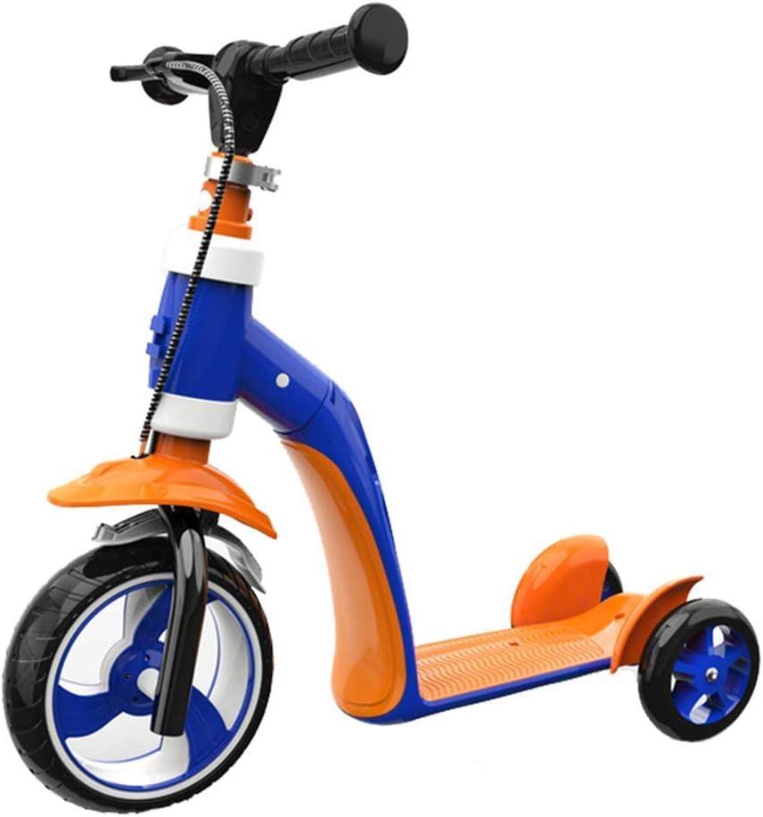 ZLXLX Coche de entrenamiento Triciclo para niños 2 en 1 para niños de 2 años Niños Niñas Triciclo Bicicleta plegable First Balance Triciclo con bolsa de transporte para niños de 2-4 años, A,B