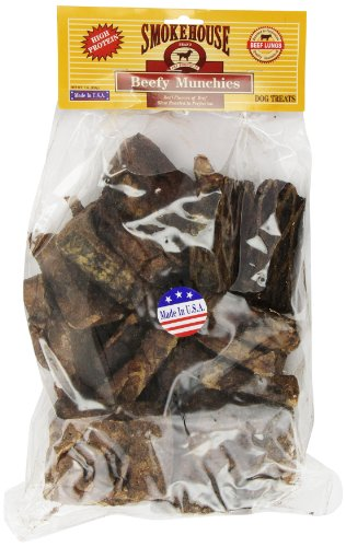 Smokehouse 100-Percent Natural Beef Munchies Dog Treats, 16-Ounce (Beef 16)