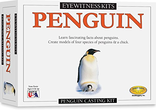 Skullduggery Eyewitness Kits Perfect Cast Penguins Cast, Paint, Display and Learn Craft Kit (Skullduggery Eyewitness Kit)