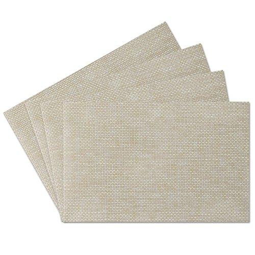 Benson Mills Tweed Woven Vinyl Placemats, Set of 8