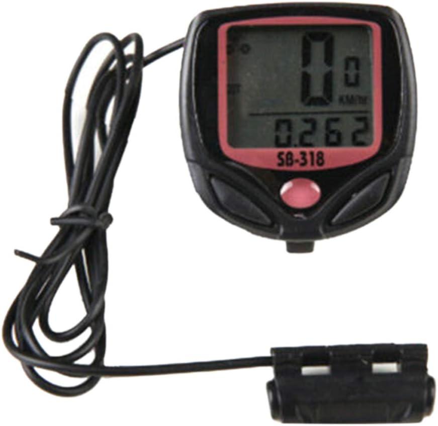 LOVEYue LCD Luminoso Impermeabile Compatibile con Contachilometri MTB per Mountain Bike per Bicicletta Computer Contachilometri
