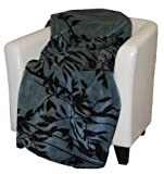 Denali Home Collection by Mont Double-Sided Reversible Throw, 60 by 70-Inch, Branches/Black