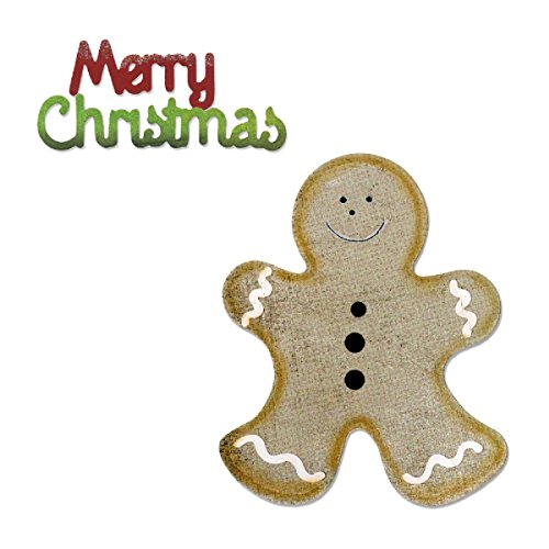 - Sizzix Bigz with Bonus Sizzlits Die - Gingerbread Man & Merry Christmas by BasicGrey