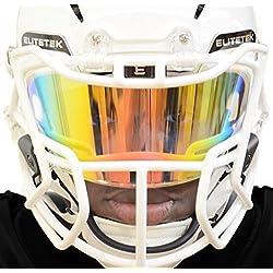 EliteTek PRIZM Football & Lacrosse Eye-Shield Facemask Visor by Fits Youth & Adult Helmets (Orange)