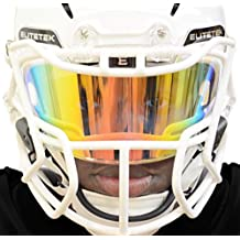 EliteTek PRIZM Football & Lacrosse Eye-Shield Facemask Visor by Fits Youth & Adult Helmets