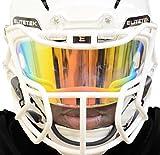EliteTek PRIZM Football & Lacrosse Eye-Shield Facemask Visor Fits Youth & Adult Helmets (Clear Orange)